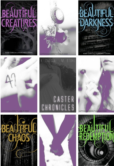 beautiful creatures  beautiful darkness  beautiful chaos  beautiful redemption!  Great series!!!