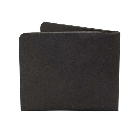 Paper-Thin Wallet Unisex for Men & Women - Solid Black Design - Made in Tyvek - Eco-friendly and 100% Recyclable