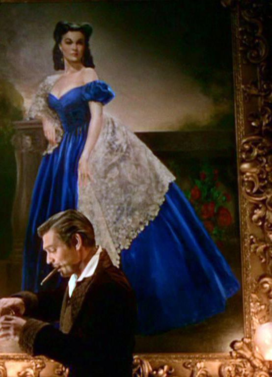 Favorite GWTW gown for Scarlett <3 Even if it's only a portrait, I simply adore the style, the color, the lace, everything