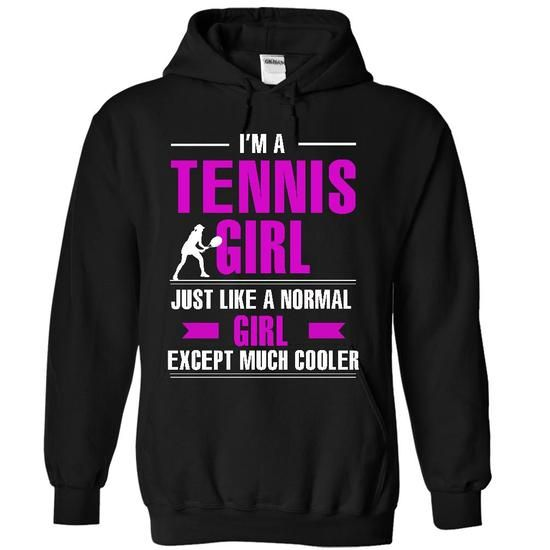 Cool Tennis girl - #grey tee #sweatshirt outfit. TRY => https://www.sunfrog.com/LifeStyle/Cool-Tennis-girl-6929-Black-8843281-Hoodie.html?68278