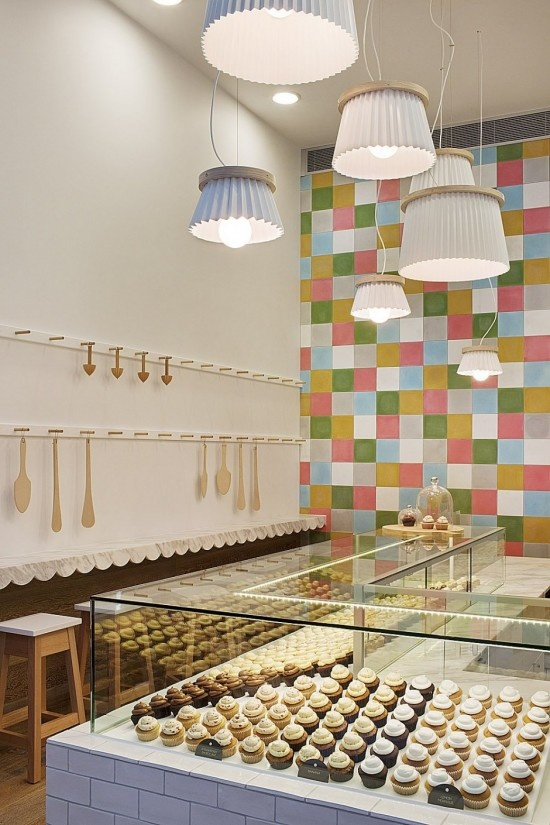 Bright Cupcake Shop Interior Design  4