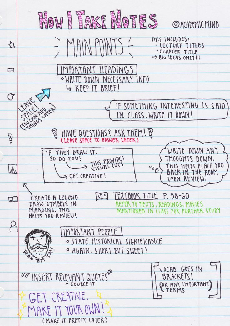 """academicmind: """"Some of you have requested that I show you my note taking technique. This is in no way a proven technique, but it really works for me and many of my professors have applauded my... studying tips, study tips #study #college"""