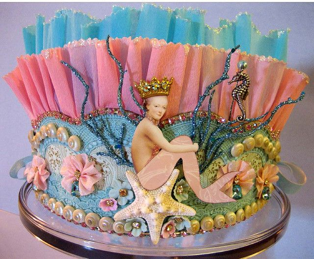 Handmade crown with all the colors and decorations you would find under the sea. Lovely job by terri gordon. Thank you for sharing this on your photostream.