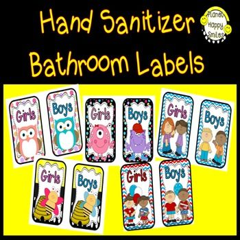 There Is A Set Of Monster Labels In This Free Set. Hand Sanitizer ~ Germx