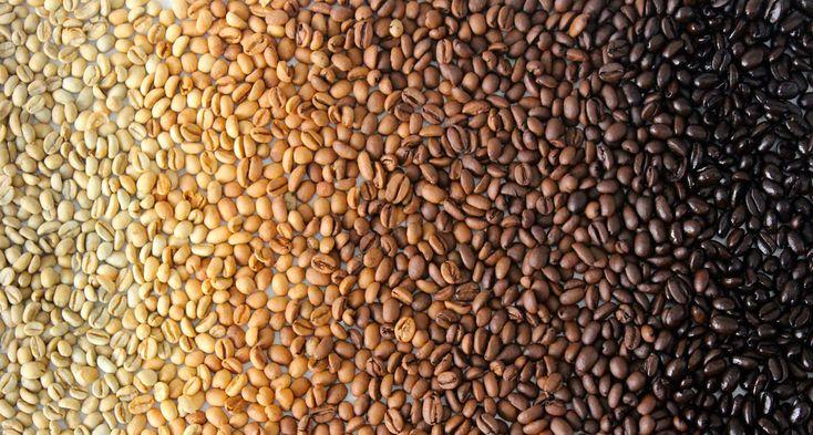 Цвет обжарка кофе – от зеленого зерна до углей