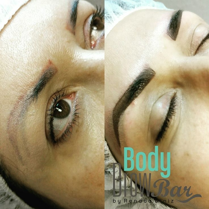Eyebrow Design and color correction #microblading …