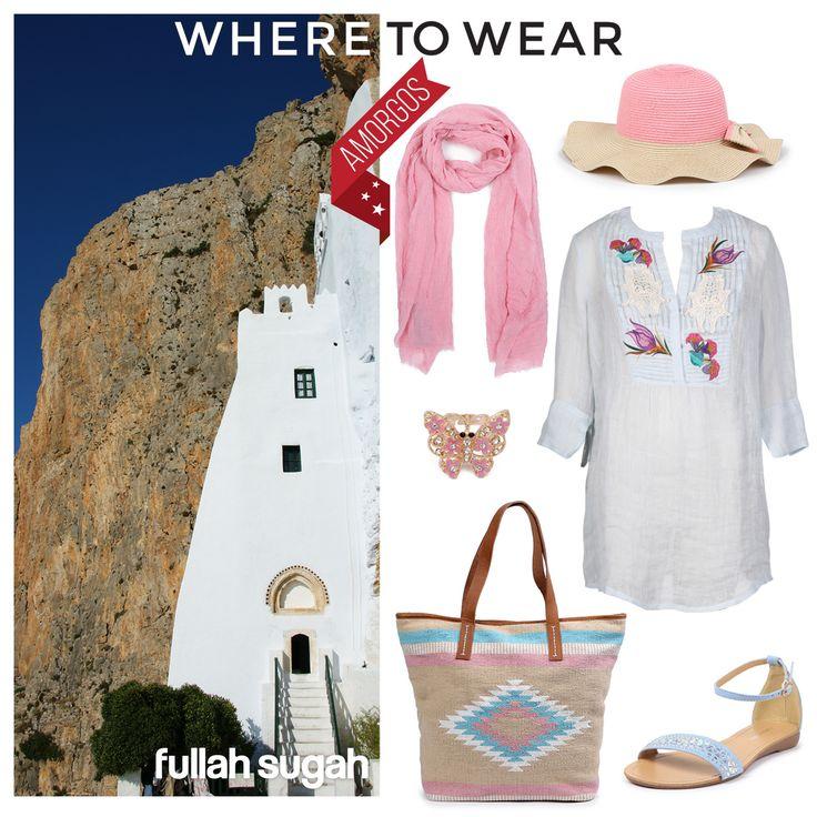 Καλοκαίρι στην πανέμορφη Αμοργό μόνο με Fullah Sugah!!! #sales #style #trends #dresses #bags #sandals #fashion