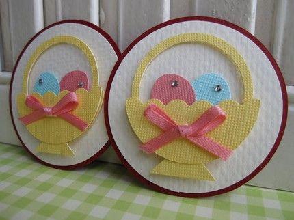 easter basketEaster Cards, Easter Pets, Punchart, Easter Spr, Flower Tutorial, Easter Baskets