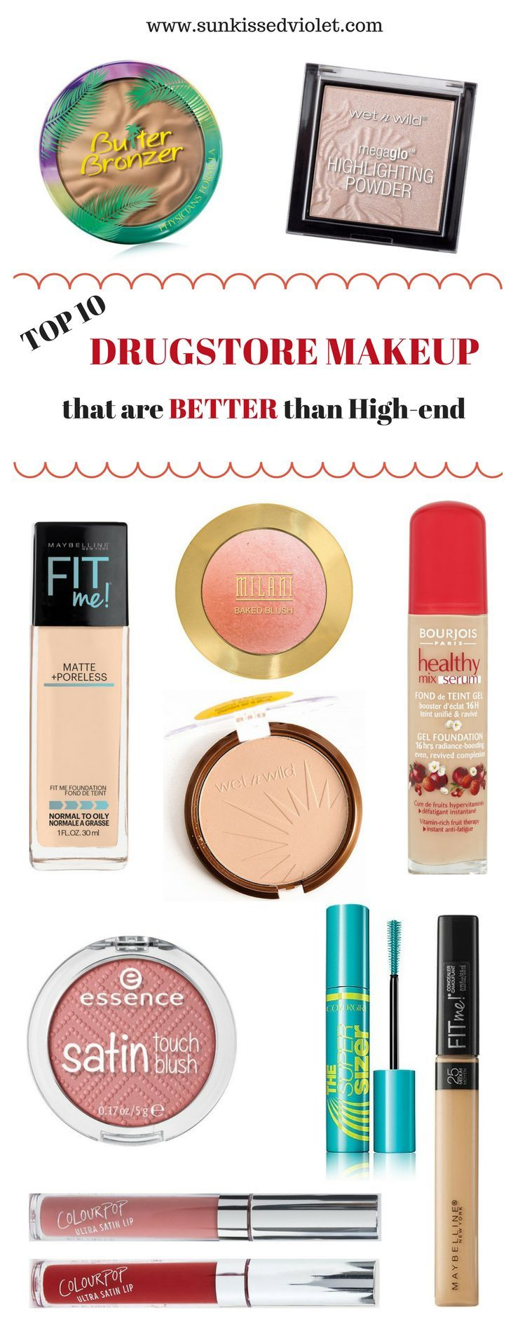Top 10 Drugstore Makeup that are Better than High-end