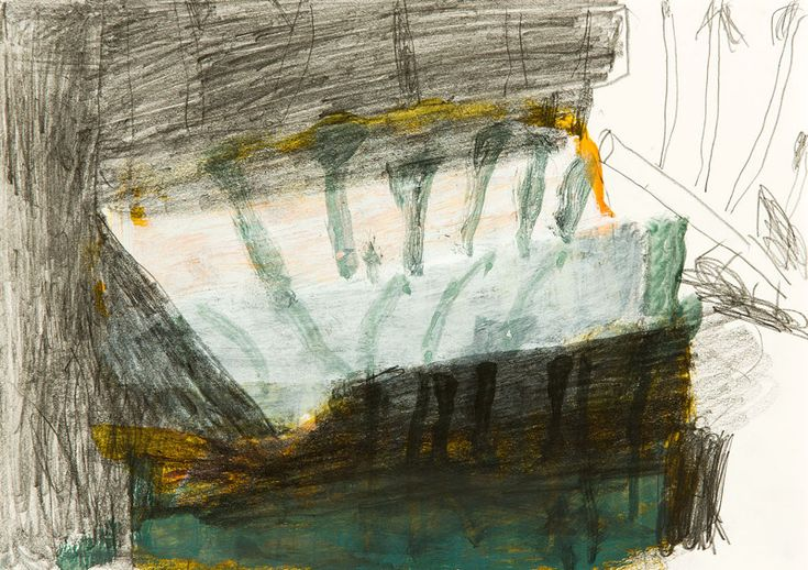 Forests Scotland series 7 Idris Murphy-Forests Scotland series 7 Idris Murphy - Works on Paper Forests Scotland series 7 2014 acrylic on paper 21x30cm