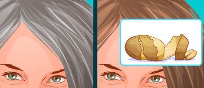 Con il metodo della buccia di patata si eliminano per sempre i capelli grigi: efficace dopo pochi minuti. I dettagli e la procedura completa per ?