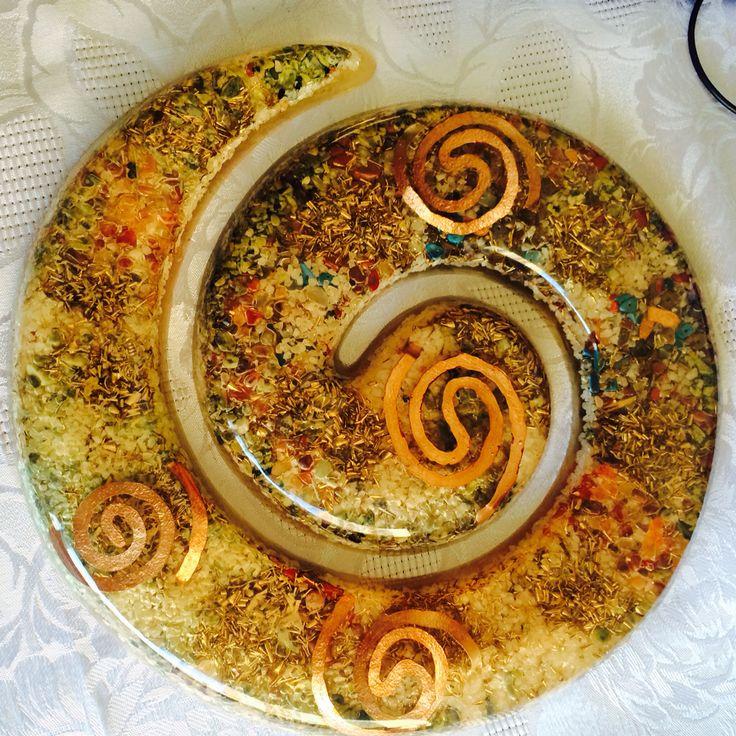 Orgon espiral ideal para la casa o departamento se puede colgar o usar obre superficie plana