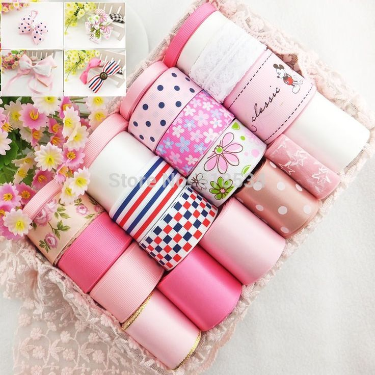 >> Click to Buy << Pink Children Series 24YDS Printed Ribbon Set Satin/Grosgrain/Lace Mixed Ribbon Combination DIY Hair Accessories   ZD-072 #Affiliate