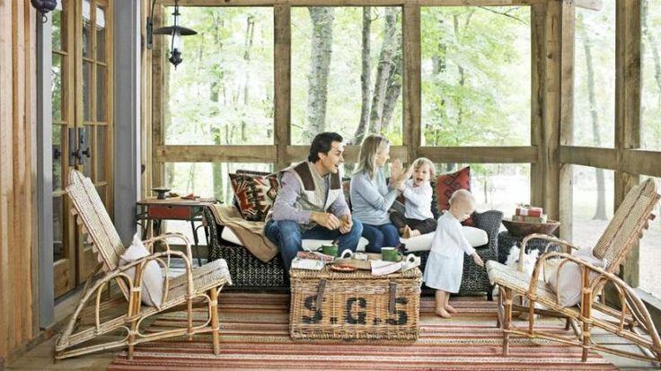 Keep a Cabin Porch Cozy  - CountryLiving.com