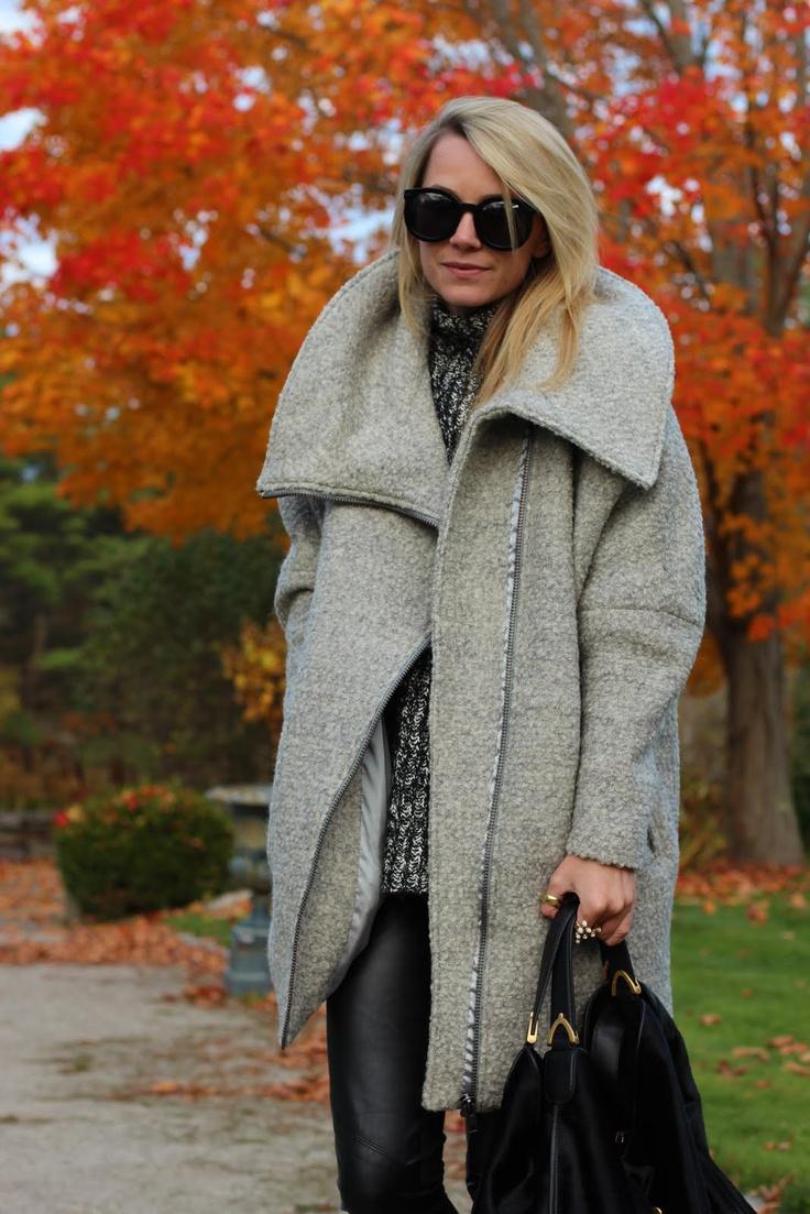 Nubby Sweater + Cozy Jacket + Leather Look Leggings = Pure Joy. Atlantic-Pacific