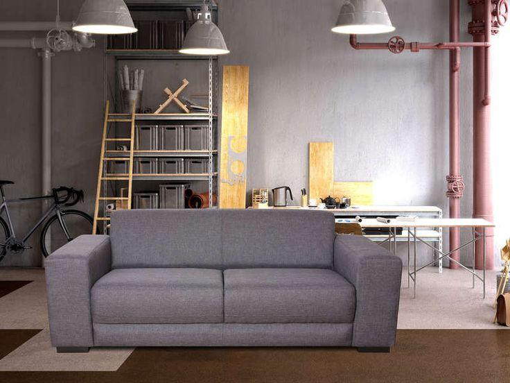 beautiful canap fixe places peppsa coloris gris clair pas cher cuest sur with conforama strassen. Black Bedroom Furniture Sets. Home Design Ideas