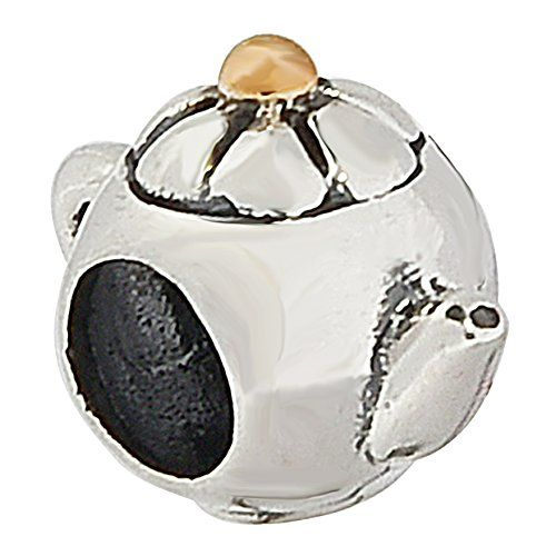 Teapot Authentic Sterling Silver Solid Hobbies Charm Bead Fits Pandora Charms...