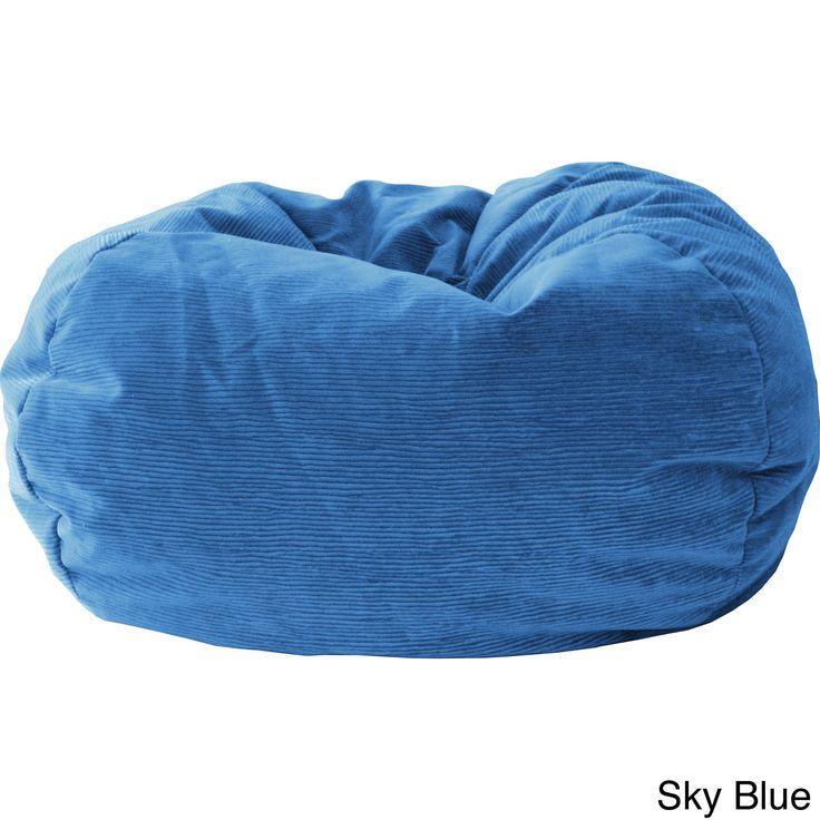 Gold Medal XXL Micro Fiber Suede Corduroy Bean Bag Sky Blue Microfiber