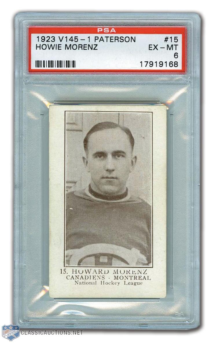 Habs Hall of Famer Howie Morenz Rookie Card / 1923-24 William Paterson V-145-1 #15