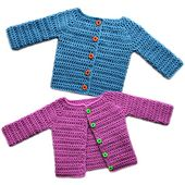 Ravelry: Classic Baby Cardigan Sweater - 5 Sizes pattern by Rachel Choi