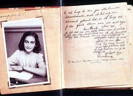 El diario que la adolescente judía Ana Frank escribió mientras se escondía de los nazis.
