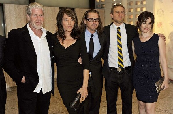 Sons Of Anarchy- Clay, Gemma, Otto, Jax, and Tara. They look so different not in character (: