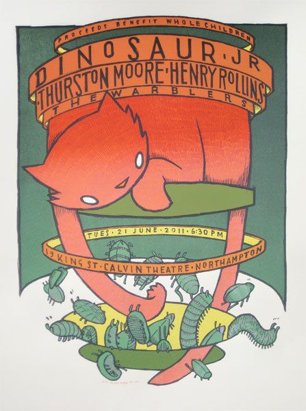 GigPosters.com - Dinosaur Jr. - Thurston Moore - Henry Rollins - Warblers, The
