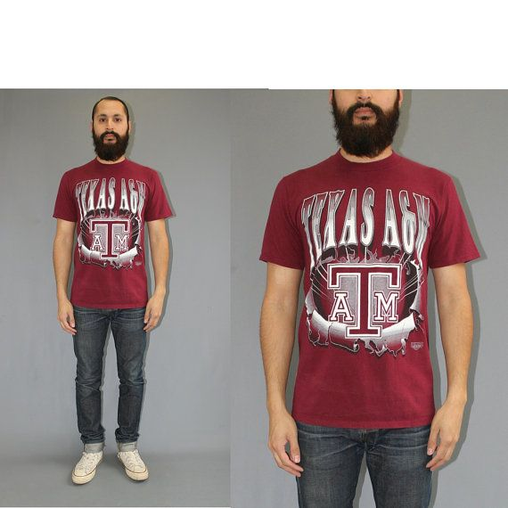 Texas A&M Aggies Tshirt - 90s Vintage Texas Aggies Tshirt - Texas Aggies Football - Medium by DiveVintage from Passport Vintage. Find it now at http://ift.tt/2n3H3jJ!
