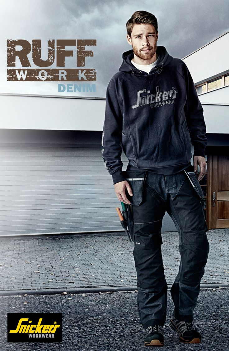 Say hello to the #denim version of our new RuffWork work trousers! For a modern look, wear these hardwearing work trousers featuring reinforced design with amazing fit and functionality. #RuffWork