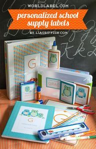 Personalized Back to School Organizing Labels | Worldlabel Blog
