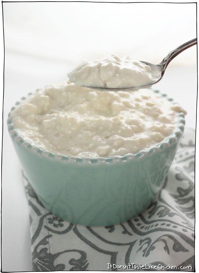 Quick Easy Vegan Cottage Cheese Recipe Vegan Cottage Cheese Quick Easy Vegan Healthy Vegan Snacks