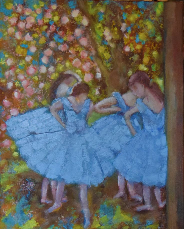 Always inspired by Degas Acrylic on canvas