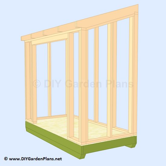 How To Build The Lean To Shed Side Walls U0026 Cut Roof Rafters