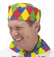 Harlequin Print Chefs Hat