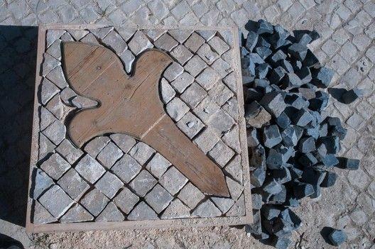 A Calçada Portuguesa,Molde de calçada, em Lisboa. © Câmara Municipal de Lisboa