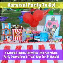 Carnival Party Supplies and Game Set (For 24 Guests -- Just $6.45 each)