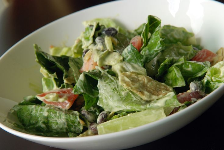 Mexican Salad with Creamy Avocado Dressing#Repin By:Pinterest++ for iPad#