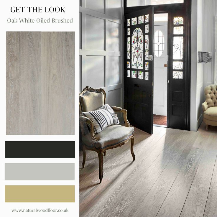 Design Inspiration.  Create a jaw-dropping entrance with a hall that's kid & pet friendly.  White Brushed engineered oak flooring