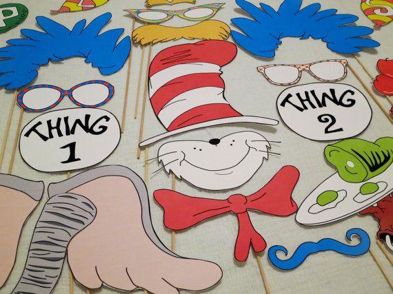 Dr Seuss Photo Booth Props - Printable DIY