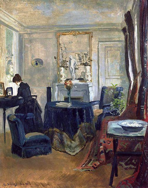 """huariqueje: """" Blue Room - Christian Skredsvig Norwegian 1854-1924 """""""