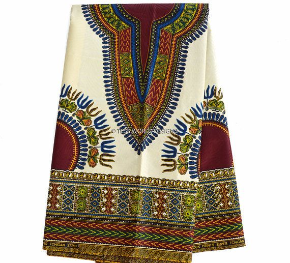 Wholesale Cream Dashiki Fabric African Fabric Ankara