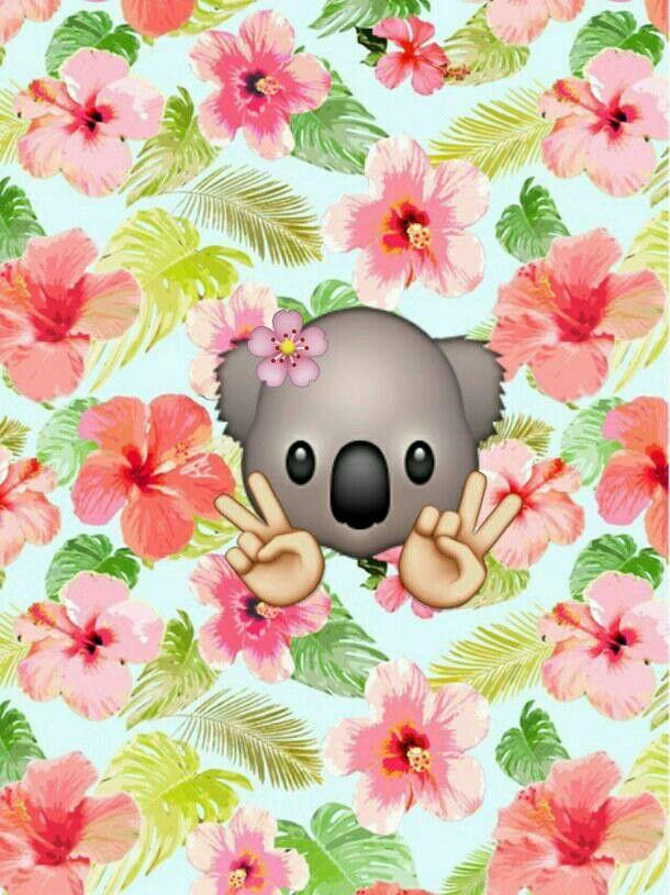 Wallpaper! ^Koala emoji collage^