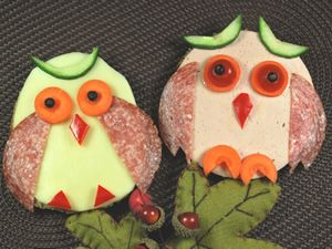 adorable owl sandwiches!