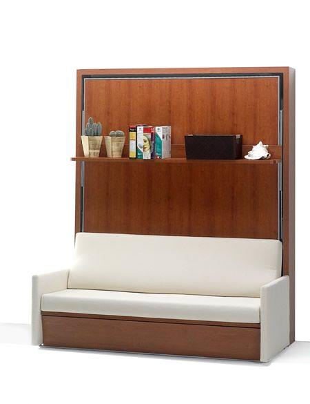One Sofa Small Living Room Decor: Sofa And Murphy Bed In One. Check Out Www