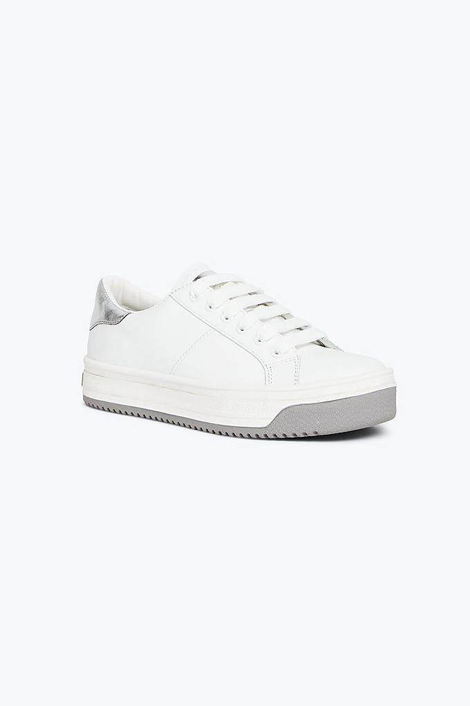 b5fe44430cf2 Marc Jacobs Contrast Sole Empire Sneaker in White Silver