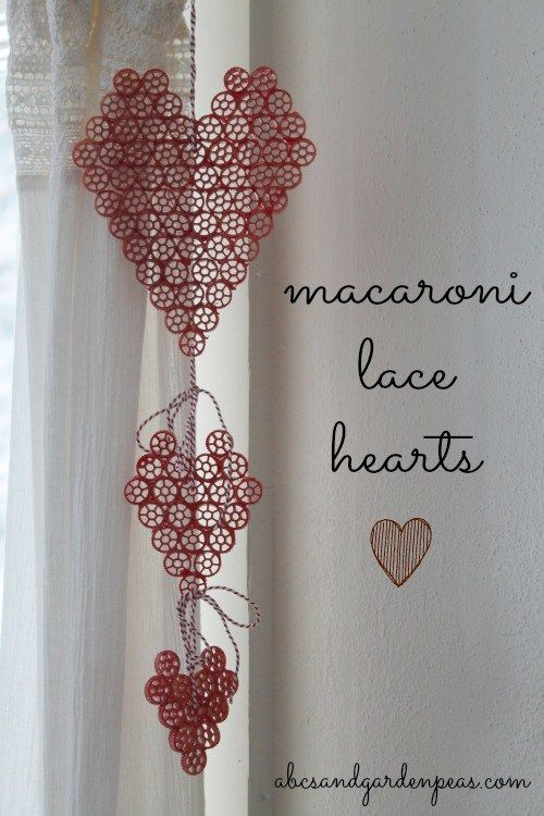 Embracing the Imperfect Craft: Macaroni Lace Hearts