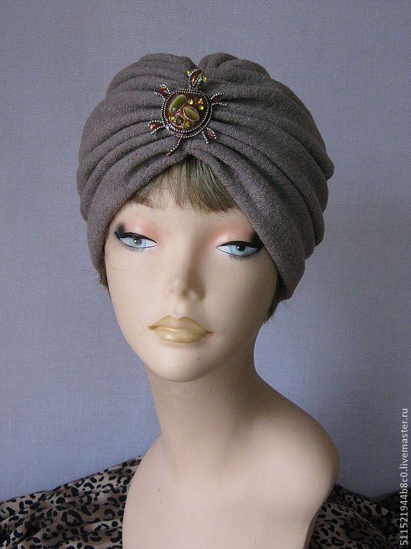 """Купить """"Ариадна"""" шапочка бежевая чалма на весну - бежевый, весенняя шапочка, весенняя мода, тюрбан"""