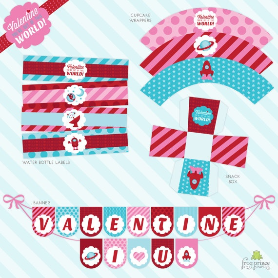 Out of this World Valentine printablesHoliday Ideas, Crafts Ideas, Free Valentine, Groundhog Valentine, Valentine Printables, Aliens Spaces, Frogs Prince, Printables Parties, Free Printables