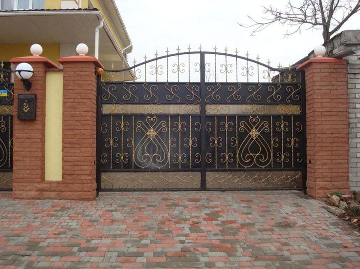 Modern Gate Design For Elegant Home Decoration Ideas : Stunning Metal Gae  Decoration Ideas For Modern Part 78