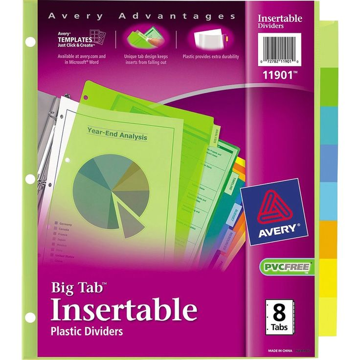 The interesting Avery® Big Tab Plastic Insertable Dividers
